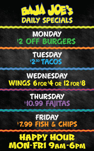 daily specials cantina in mesa